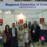 Το περίπτερο της Περιφέρειας Κρήτης και η αντιπροσωπεία της με επικεφαλής την Αντιπεριφερειάρχη Θεανώ Βρέντζου