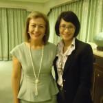 Η κ. Βρέντζου με την υφυπουργό Εξωτερικών της Ταιβάν Vanessa Shih